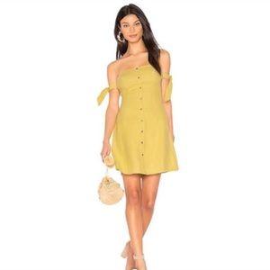 ASTR Green Araceli ButtonUp Off Shoulder Dress NWT